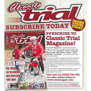 Subscription to Classic trial magazine UK
