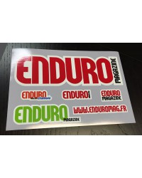 Planche stickers Enduro Magazine