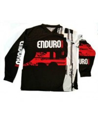 Red/black riding shirt Enduro Magazine