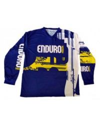 Blue/yellow riding shirt Enduro Magazine