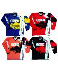 Orange/black riding shirt Enduro Magazine